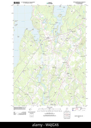 Maine USGS Historical Map North Windham 20110825 TM Restoration - Stock Photo