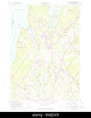 Maine USGS Historical Map North Windham 460685 1957 24000 Restoration - Stock Photo