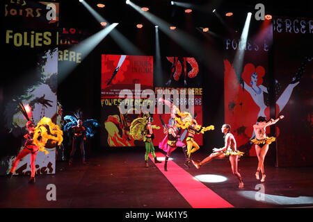 London, UK. 23rd July, 2019. Cast of Jean Paul Gaultier: Fashion Freak Show press preview held at Queen Elizabeth Hall, South Bank Credit: SOPA Images Limited/Alamy Live News