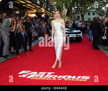 London, UK. 23rd July, 2019. Vanessa Kirby at the Fast & Furious: Hobbs & Shaw UK Special Screening at the Curzon Mayfair Credit: SOPA Images Limited/Alamy Live News - Stock Photo