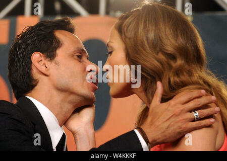 SMG_NY1_Jennifer Lopez_Marc Anthony_072109_02.JPG  NEW YORK - JULY 21: Actress Jennifer Lopez and singer Marc Anthony attend the press conference to announce Marc Anthony's partnership with the Miami Dolphins at the Time Warner Center on July 21, 2009 in New York City.    People;  Jennifer Lopez, Marc Anthony  MUST CALL IN INTERESTED Michael Storms Storms Media Group Inc. (305) 632-3400 - Cell (305) 513-5783 - Fax MikeStorm@aol.com - Stock Photo