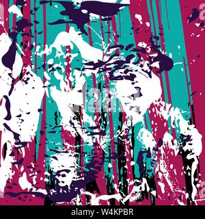 graffiti on a dark background vector illustration - Stock Photo