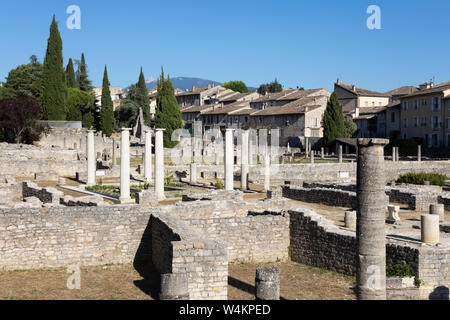The Roman ruins, Vaison-la-Romaine, Vaucluse department, Provence-Alpes-Côte d'Azur, France, Europe - Stock Photo