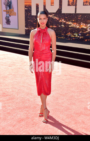 Los Angeles, USA. 22nd July, 2019. Adriana Lima at the premiere of the movie 'Once Upon a Time . in Hollywood' at the TCL Chinese Theater. Los Angeles, 22.07.2019 | usage worldwide Credit: dpa/Alamy Live News - Stock Photo