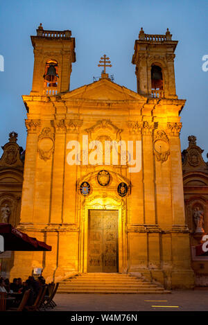 Cathedral of Assumption in the Cittadella high above Victoria, Gozo, Malta - Stock Photo