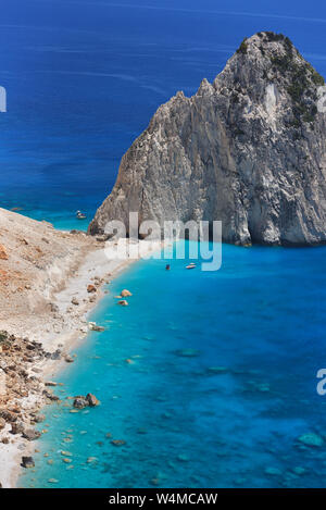 Beautiful lanscape of Ionian Sea from Keri, Zakinthos island, Greece. Vacation concept background - Stock Photo