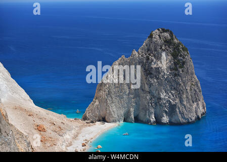 Beautiful lanscape of Ionian Sea from Keri, Zakinthos island, Greece. Vacation concept background - Stock Photo