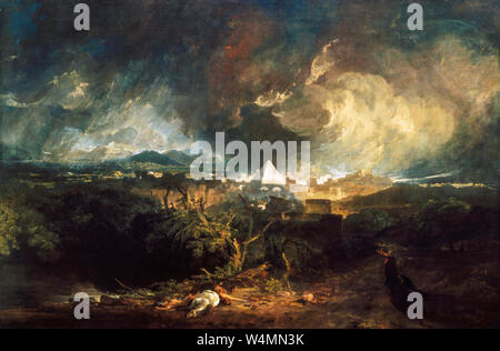 JMW Turner, painting, The Fifth Plague of Egypt, 1800 - Stock Photo