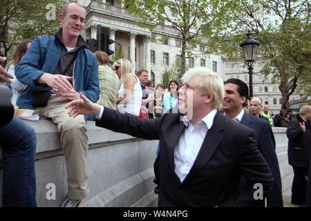 Major of London Boris Johnson at 2008 Vaisakhi Sikh New Year Festival, Trafalgar Square, London, UK. - Stock Photo