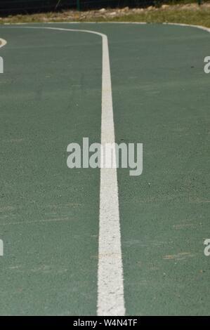 Closeup on a jogging runway - Stock Photo