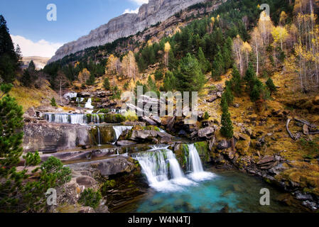 Ordesa y Monte Perdido National Park, Huesca, Spanish Pyrenees - Stock Photo