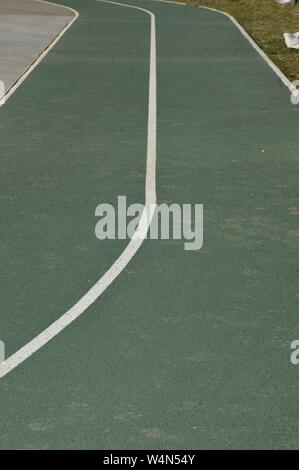 Closeup on a jogging runway - Stock Photo