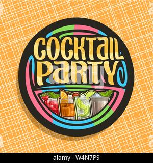 Vector logo for Cocktail Party - Stock Photo