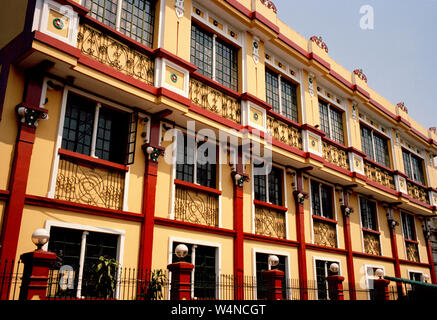 Colonial building in Intramuros in Manila in Luzon Metro Manila in the Philippines in Southeast Asia Far East - Stock Photo