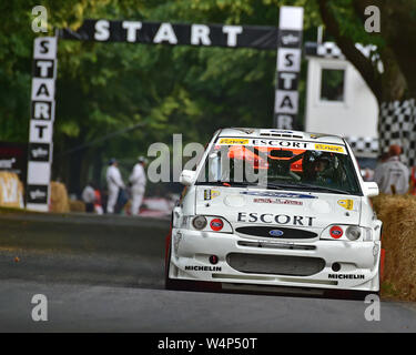 Nick Jarvis, WRC Ford Escort, Shootout Final, Goodwood Festival of Speed, 2019, Festival of Speed, Speed Kings, Motorsport's Record Breakers, July 201 - Stock Photo