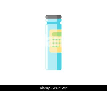 Medical vial ampoule bottle icon isolated on white background. Vaccination injection healthcare concept. Flat medicine vaccine drug jar vector illustr - Stock Photo