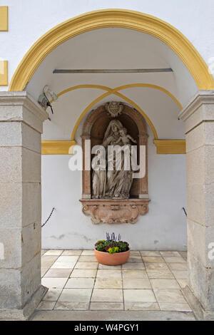 statue of the Virgin Mary, pilgrimage church Mariahilf, Passau, Lower Bavaria, Germany - Stock Photo