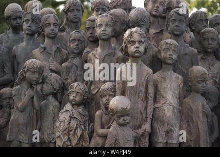 War memorial in Lidice, Czech Republic - Stock Photo