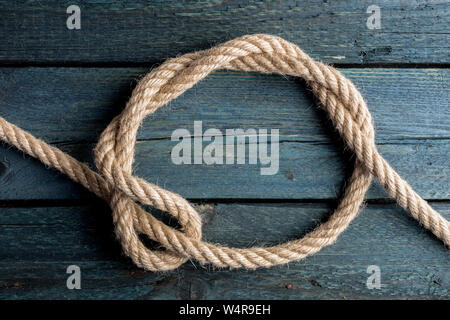 Timber Hitch Knot. Rope node. - Stock Photo
