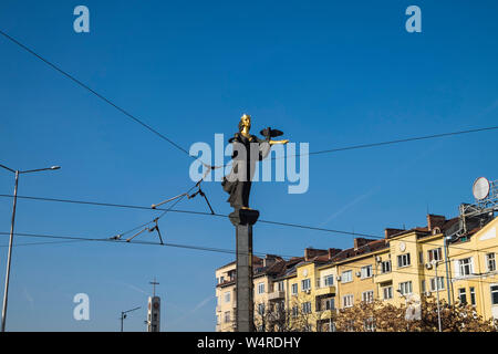 Bulgaria, Sofia, The Statue of Sveta Sofia - Stock Photo
