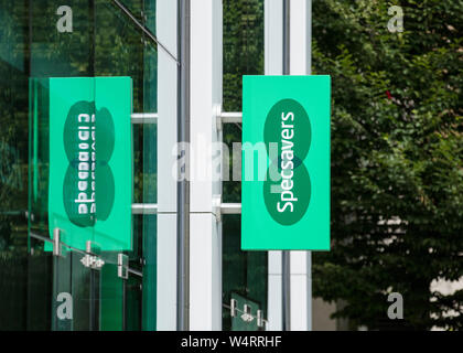 London, United Kingdom, 17th July 2019, Specsavers Sign - Stock Photo
