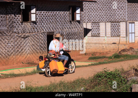Life in a local village, Kalaw highlands, Myanmar - Stock Photo
