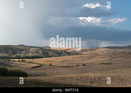 Rural landscape, Crete Senesi, Tuscany, Italy - Stock Photo