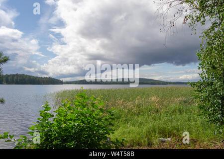 Landscape of the nature in kuopio Finland - Stock Photo