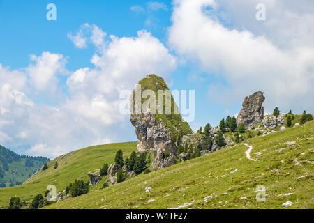 Piera longia limestone rock in the alps - Stock Photo
