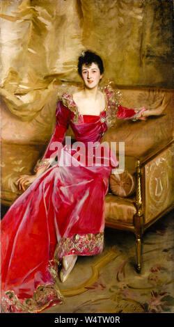 John Singer Sargent, Mrs. Hugh Hammersley, portrait painting, 1892 - Stock Photo
