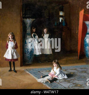 John Singer Sargent, portrait painting, The Daughters of Edward Darley Boit, 1882 - Stock Photo