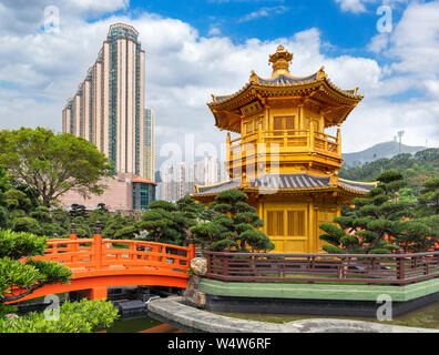 The Pavilion of Absolute Perfection in Nan Lian Garden, part of the Chi Lin Nunnery complex, Diamond Hill, Kowloon, Hong Kong, China