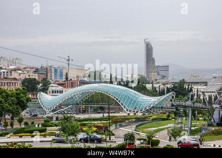 Considered the fourth city of the former Soviet Union, Tbilisi awakens as the great metropolis of the Caucasus after more than a decade of stagnation - Stock Photo