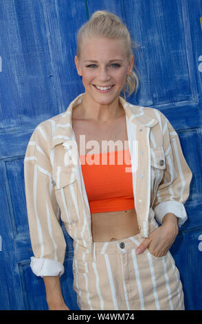 Rust, Germany - July 21, 2019: ARD / SWR TV Show: Immer wieder Sonntags with Singer Julia Lindholm