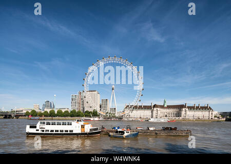 JULY 24, 2019 London Eye, London, UK - Stock Photo