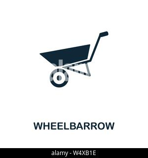 Wheelbarrow vector icon symbol. Creative sign from farm icons collection. Filled flat Wheelbarrow icon for computer and mobile - Stock Photo