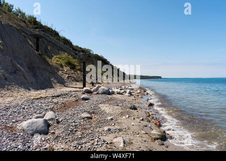 Steep Coast at Nienhagen, Mecklenburg-Vorpommern, Baltic Sea, Germany - Stock Photo