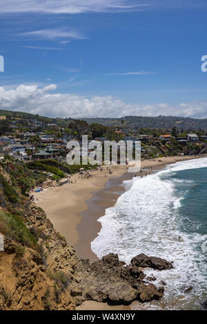 Idyllic view in Laguna Beach, California, USA - Stock Photo