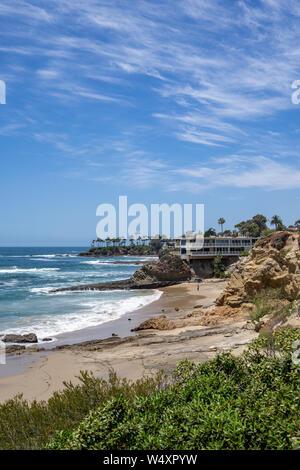 Idyllic view in Laguna Beach, California, USA - Stock Photo