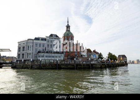 View towards the Jongpier at Dordrecht in the Netherlands, - Stock Photo