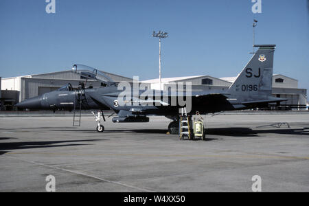 USAF United States Air Force McDonnell Douglas F-15E Strike Eagle - Stock Photo