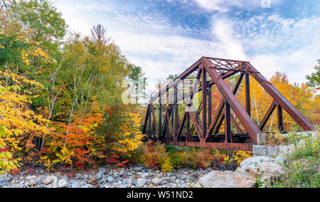 Crawford Notch State Park Bridge, New Hampshire. - Stock Photo