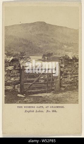 The Wishing Gate, at Grasmere. English Lakes., Helmut Petschler & Company (English, active 1860s), 1864–1865, Albumen silver print - Stock Photo