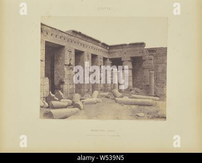 Médînet-Abou (Thèbes). Constructions Postérieures - Deuxième Cour, Félix Teynard (French, 1817 - 1892), Luxor, Egypt, negative 1851 - 1852, print 1853, Salted paper print, 24.8 × 30.5 cm (9 3/4 × 12 in - Stock Photo