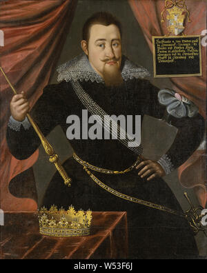 King Christian IV, Christian IV, 1577-1648, King of Denmark and Norway, painting, Oil on canvas, Height, 119 cm (46.8 inches), Width, 96 cm (37.7 inches) - Stock Photo