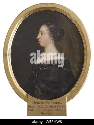 Attributed to David Klöcker Ehrenstrahl, Queen Hedvig Eleonora, Hedvig Eleonora, 1636-1715, Princess of Holstein-Gottorp, Queen of Sweden, painting, portrait, Hedvig Eleonora of Holstein-Gottorp, oil on canvas, Height, 72, cm (28.3 inches), Width, 59 cm (23.2 inches) - Stock Photo