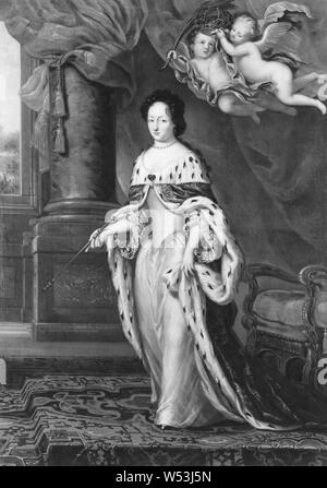 Attributed to David Klöcker Ehrenstrahl, Queen Ulrika Eleonora d.ä, Ulrika Eleonora d.ä, 1656-1693, Princess of Denmark, Queen of Sweden, painting, Ulrika Eleonora of Denmark, Oil on canvas, Height, 246 cm (96.8 inches), Width, 170 cm (66.9 inches) - Stock Photo