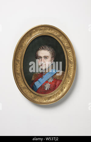 Johannes Möller, King Christian VIII, King Christian VIII of Denmark, Christian VIII King of Denmark (1786-1848), painting, Gouache on ivory, Oval, Height, 13.8 cm (5.4 inches), Width, 10.5 cm (4.1 inches), Signed - Stock Photo