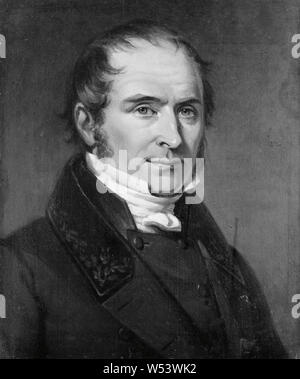 Johan Gustaf Sandberg, Elias Magnus Fries, 1794-1878, painting, 1838, Oil, Height, 23 cm (9 inches), Width, 19 cm (7.4 inches) - Stock Photo