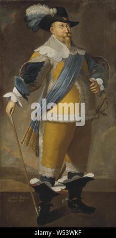 King Gustav II Adolf, Gustav II Adolf, 1594-1632, King of Sweden, painting, Gustavus Adolphus of Sweden, Oil, Height, 204 cm (80.3 inch), Width, 103 cm (40.5, inches) - Stock Photo